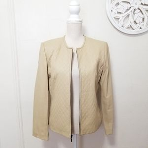 Lord and taylor size 10 jacket 100% real leather